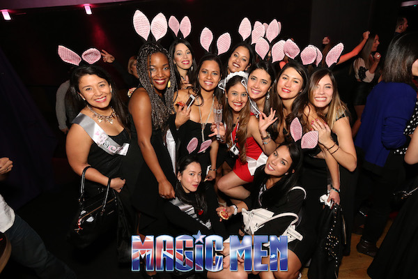 Hens Dresses As Bunnies